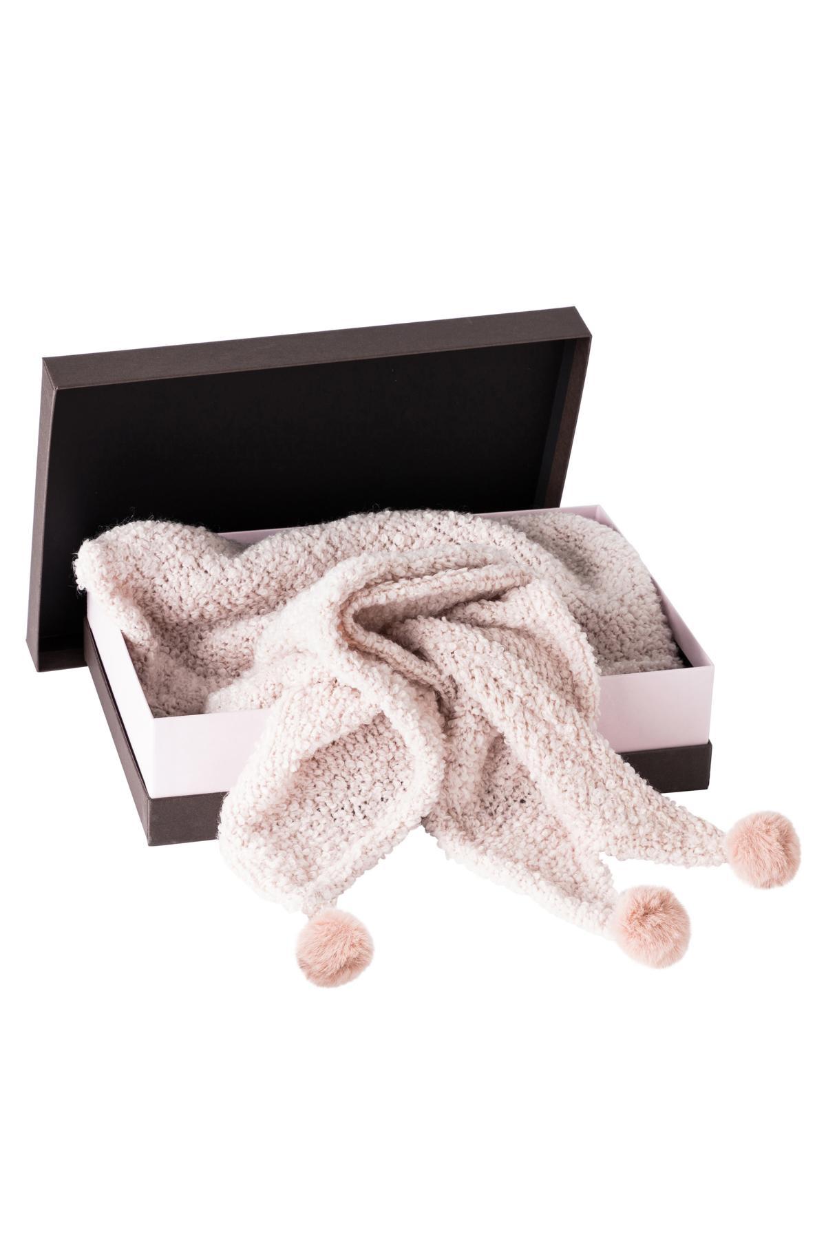 Geschenkbox Strickschal Fluffy