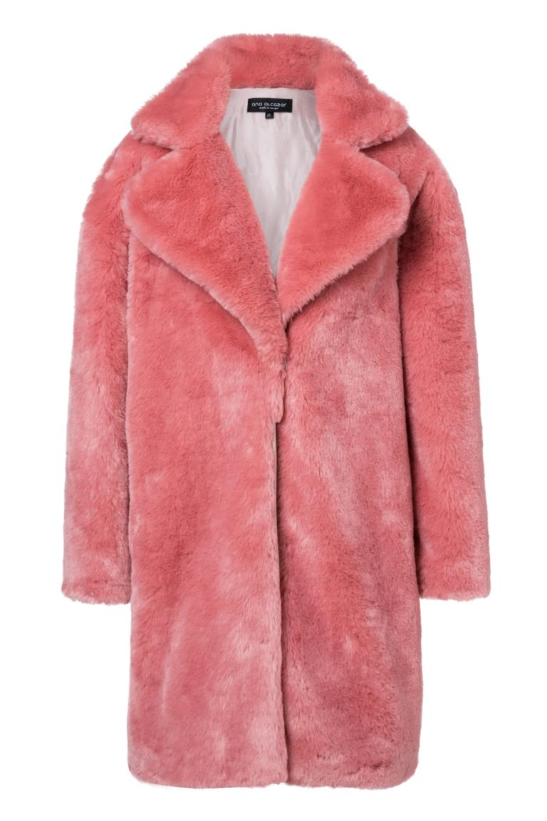 Ana Alcazar Fake Fur Mantel Oriani Rose