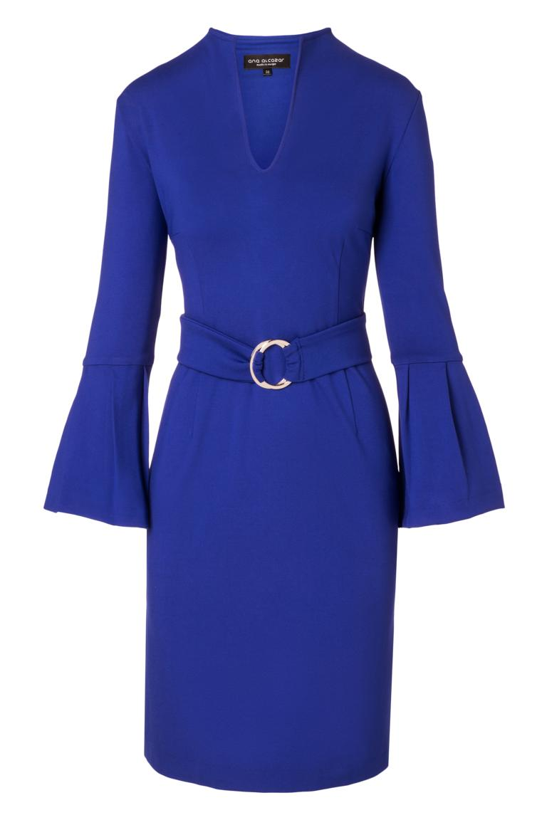 Ana Alcazar Volant Dress Octea Blue