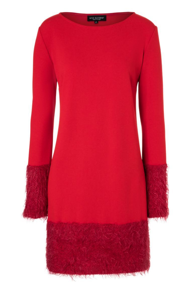 Ana Alcazar Mix Kleid Petea Rot