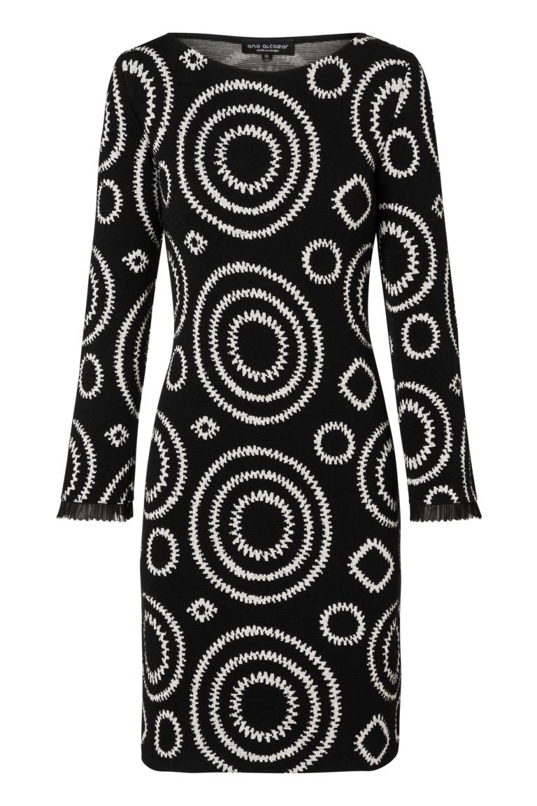 Ana Alcazar A-Linien-Kleid Pepita Schwarz