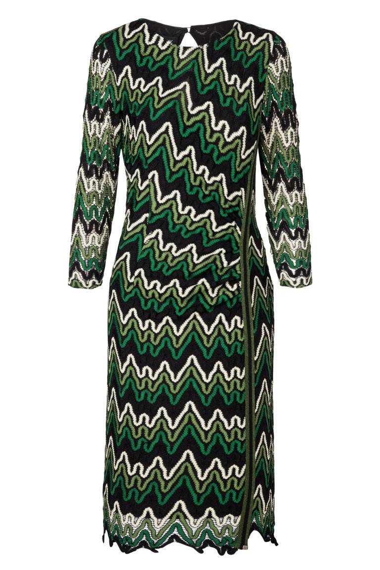 Ana Alcazar Lurex-Streifen Kleid Photysa Grün