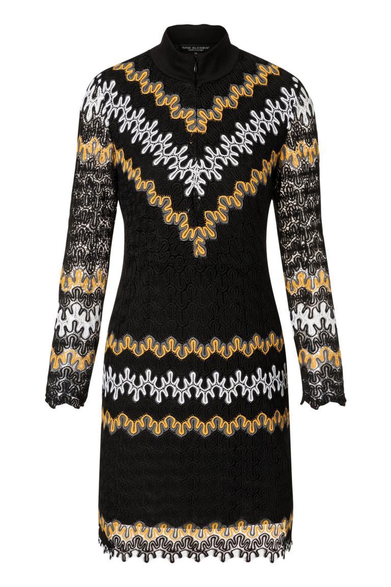 Ana Alcazar Asymmetrisches Kleid Posira Schwarz