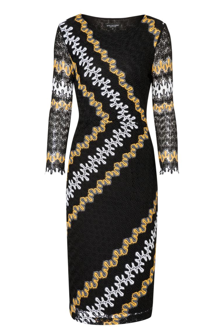 Ana Alcazar Midi Dress Posikys Black