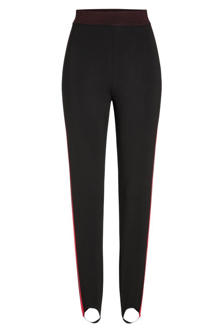 Ana Alcazar Trousers Olimya Black-Red