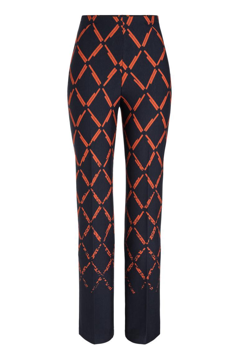 Ana Alcazar Trousers Payela Blue-Orange