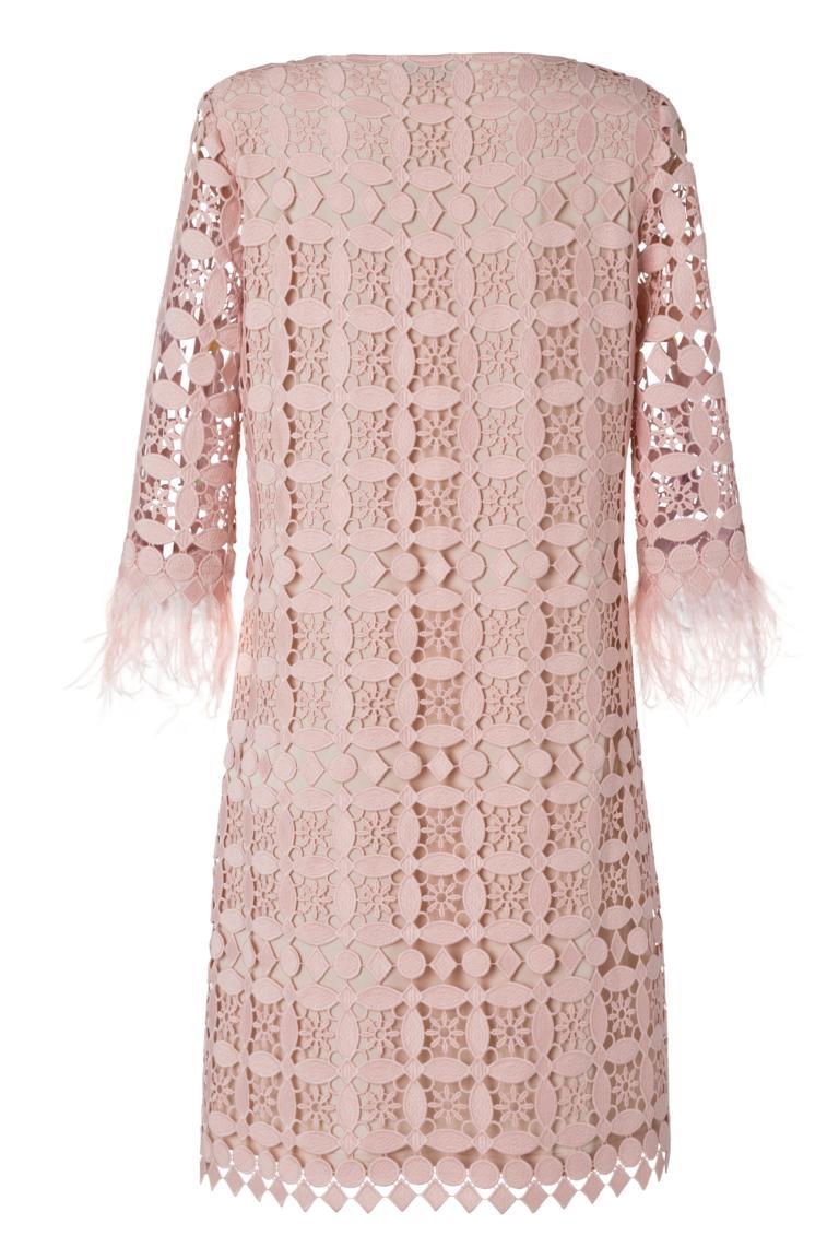 Rear view of Ana Alcazar Feather Dress Neava