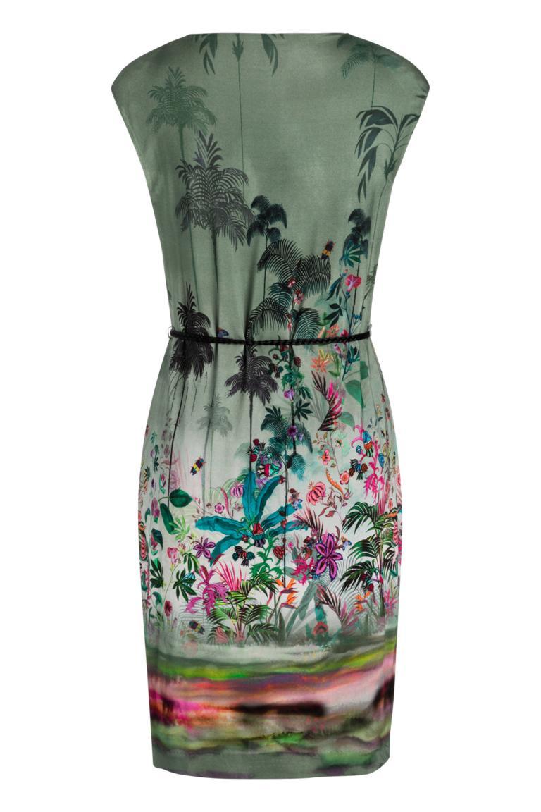 Rückansicht von Ana Alcazar Palmenprint Kleid Nizzys