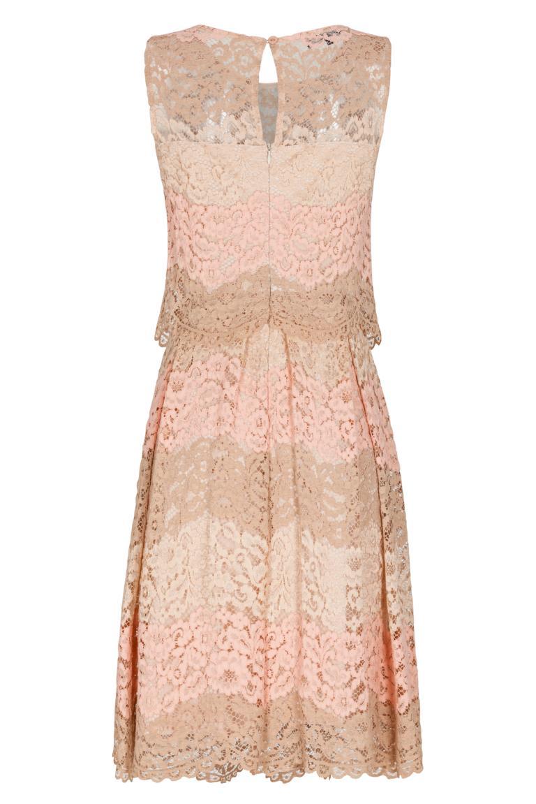 Rückansicht von Ana Alcazar Prinzess Kleid Rose Flaconis