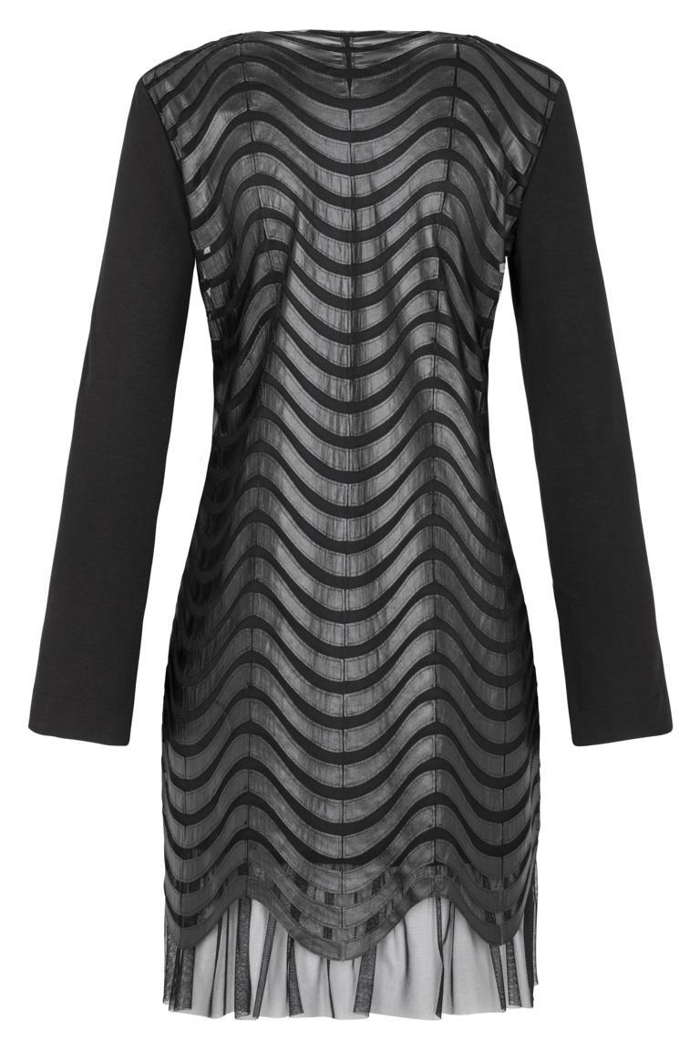 Rückansicht von Ana Alcazar Kunstleder Kleid Kewave