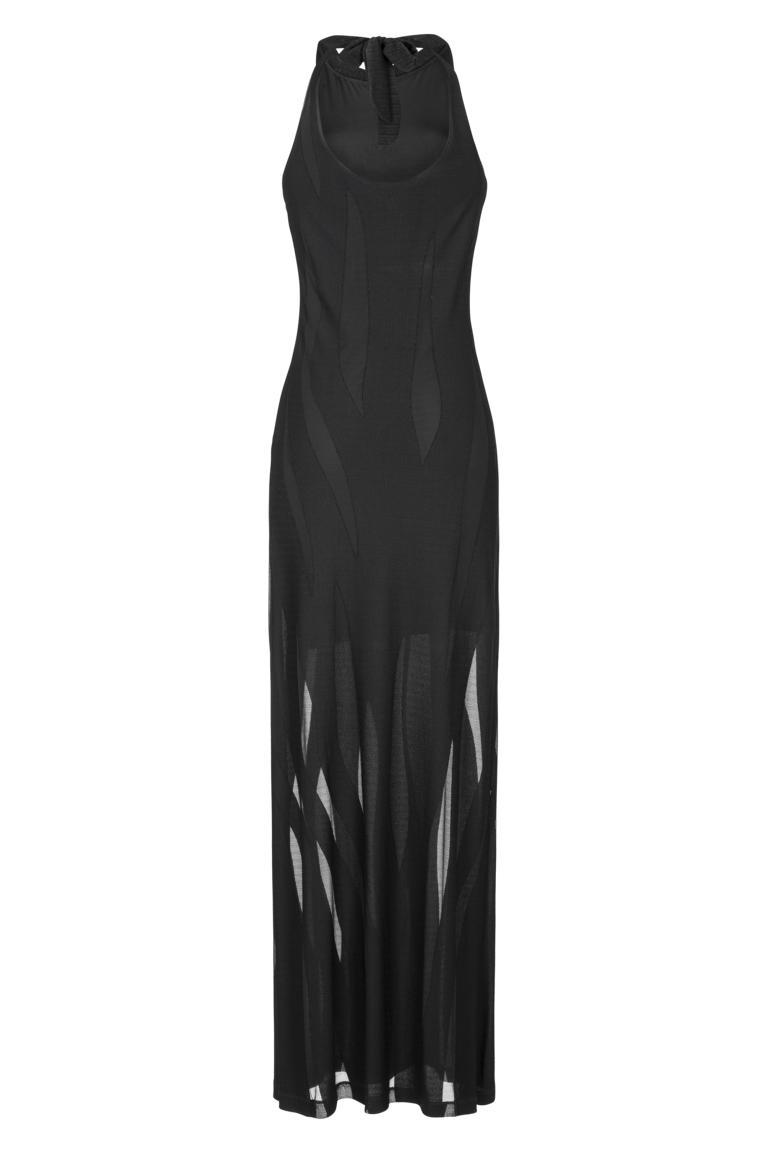 Rear view of Ana Alcazar Maxi Dress Black Faleara
