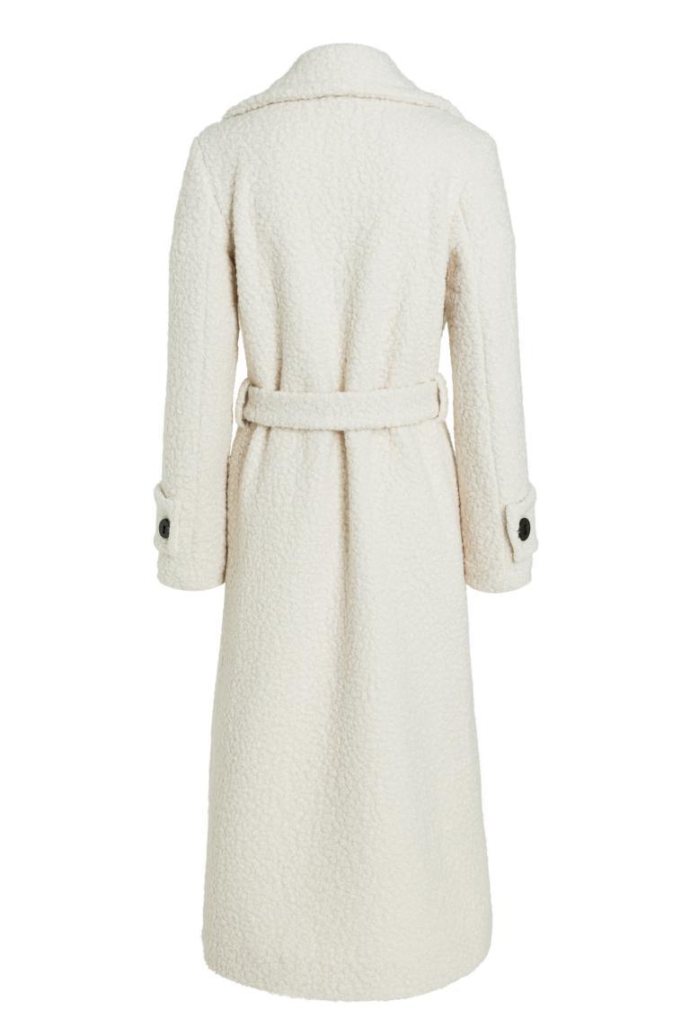 Rear view of Ana Alcazar Maxi Coat Oneya White