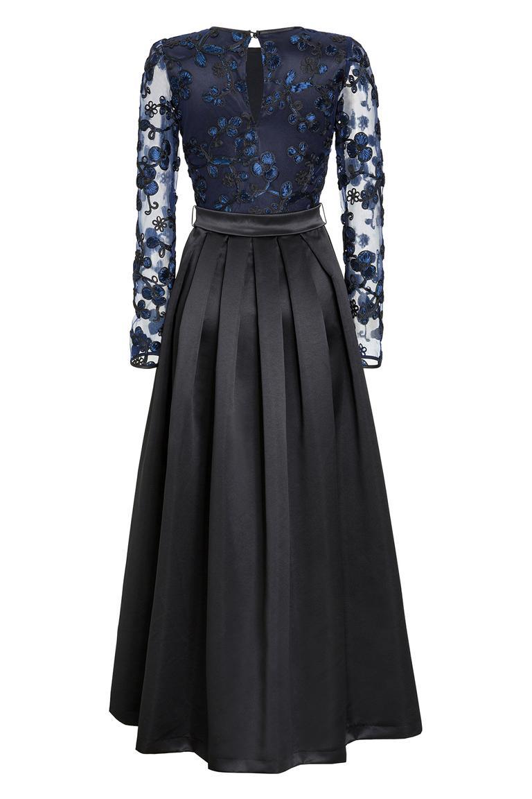 Rückansicht von Ana Alcazar Black Label Luxus Abendkleid Juvendira