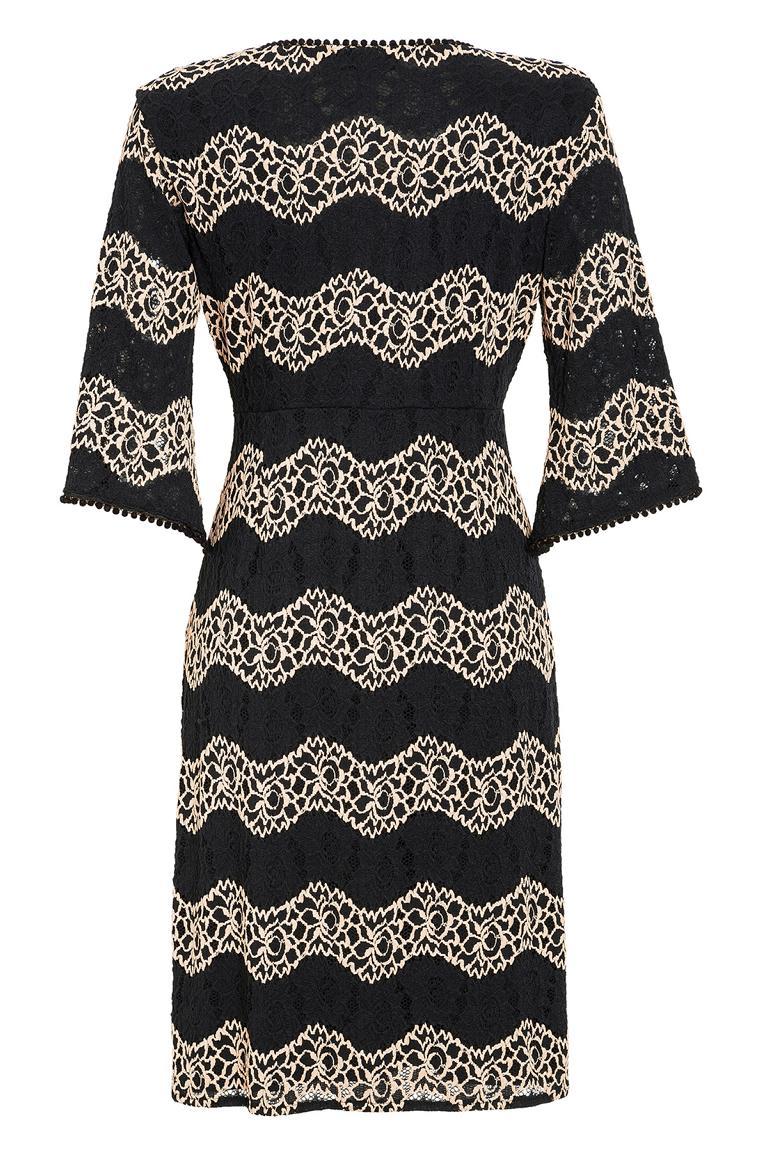 Rear view of Ana Alcazar Crochet Dress Leandra