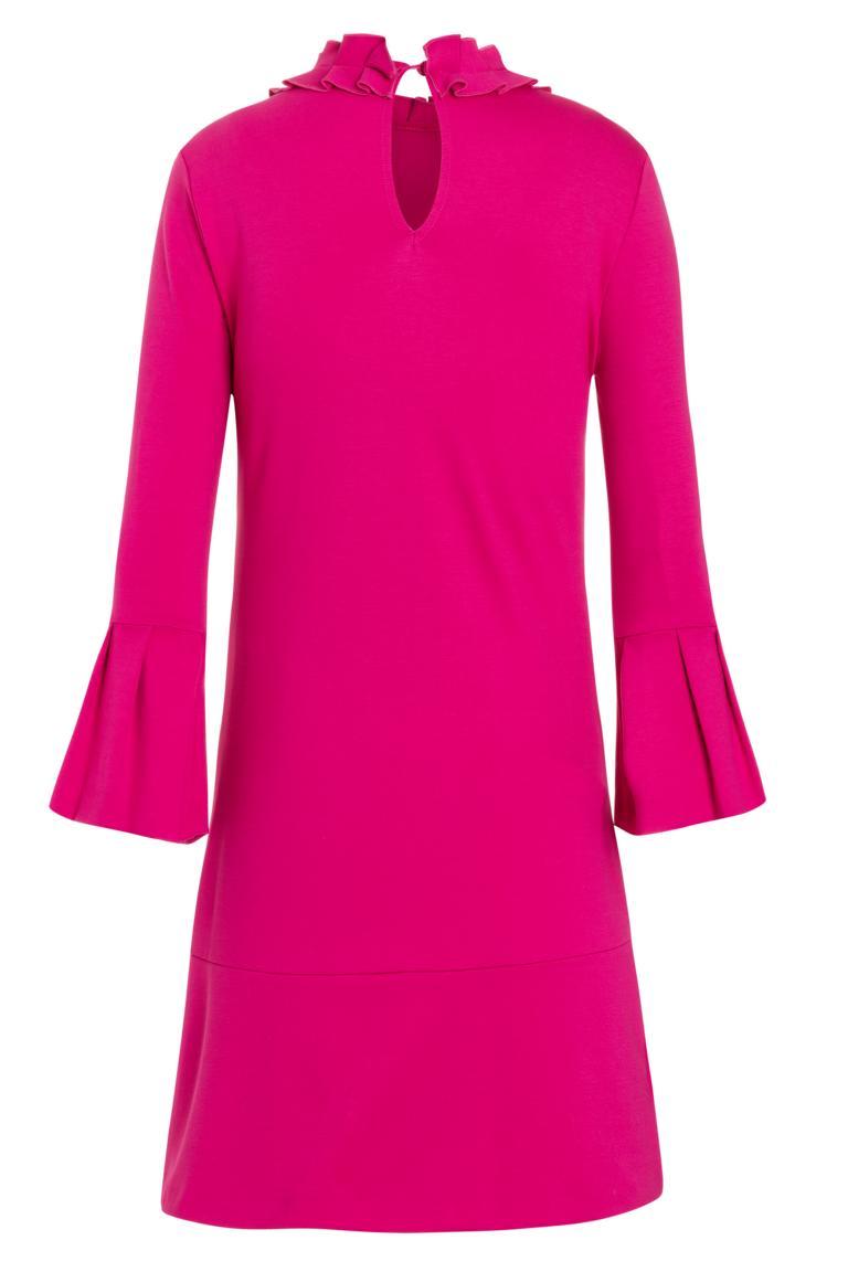 Rückansicht von Ana Alcazar Volantkleid Opali Pink