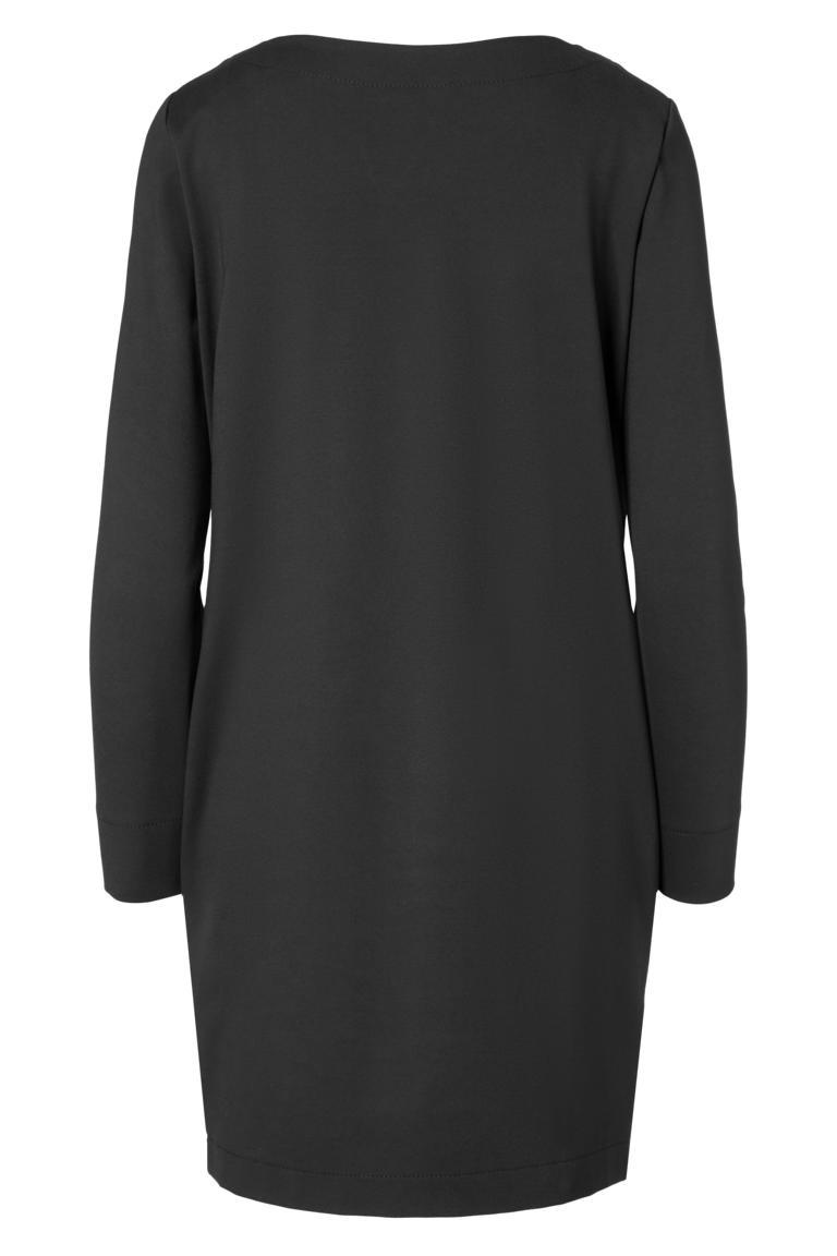 Rückansicht von Ana Alcazar Kleid mit Taschen Ozora Schwarz