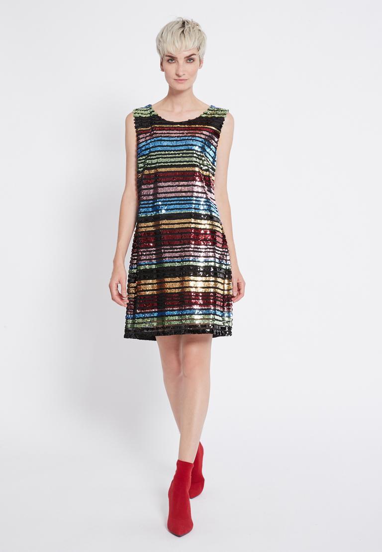 Rückansicht von Ana Alcazar Black Label Pailletten Kleid Rubys