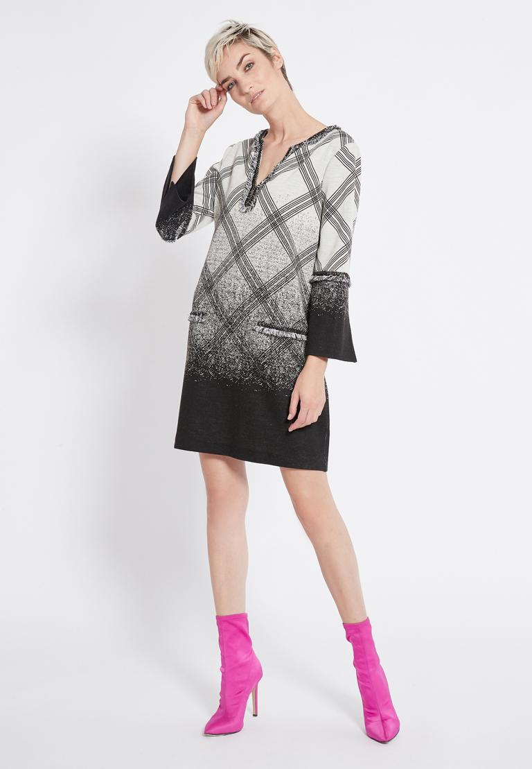 Rear view of Ana Alcazar Graphic Tunic Dress Rava