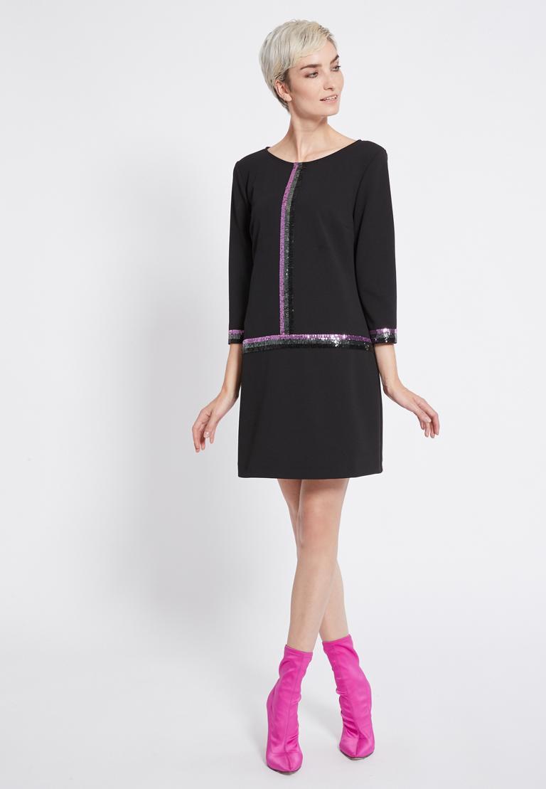 Rückansicht von Ana Alcazar Pailletten Kleid Riva