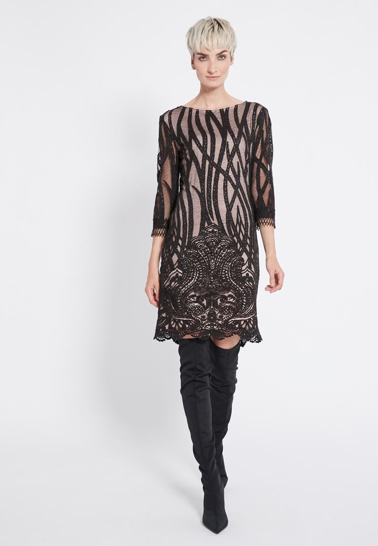 Rückansicht von Ana Alcazar Spitzen Kleid  Ranjea