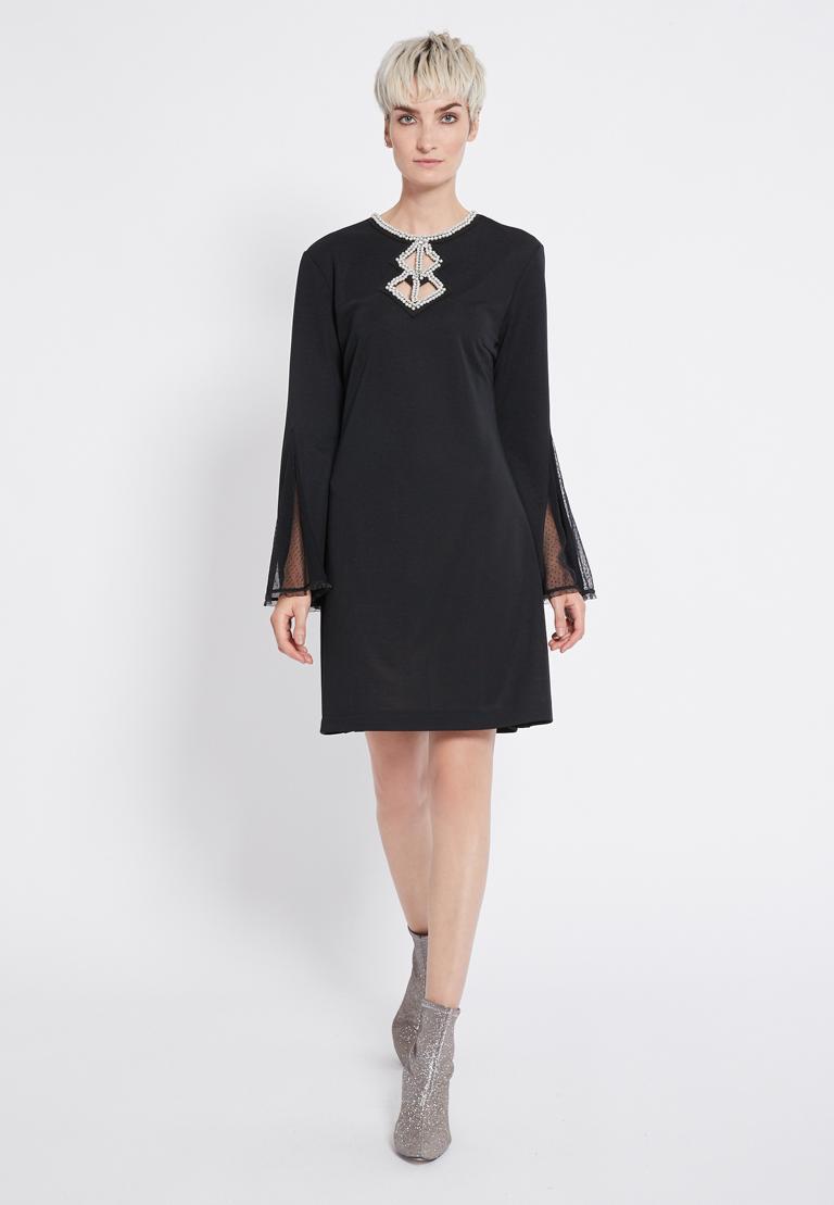 Rückansicht von Ana Alcazar Perlen Kleid Revitys
