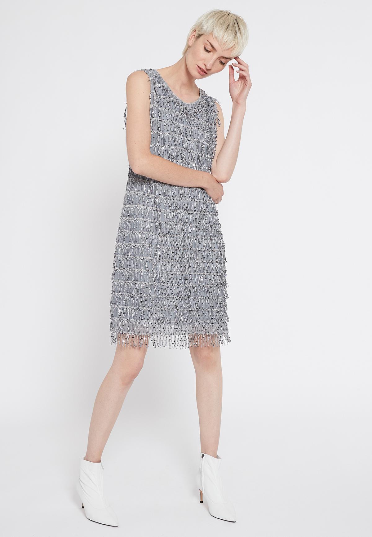 Rückansicht von Ana Alcazar Charleston Kleid Sacila
