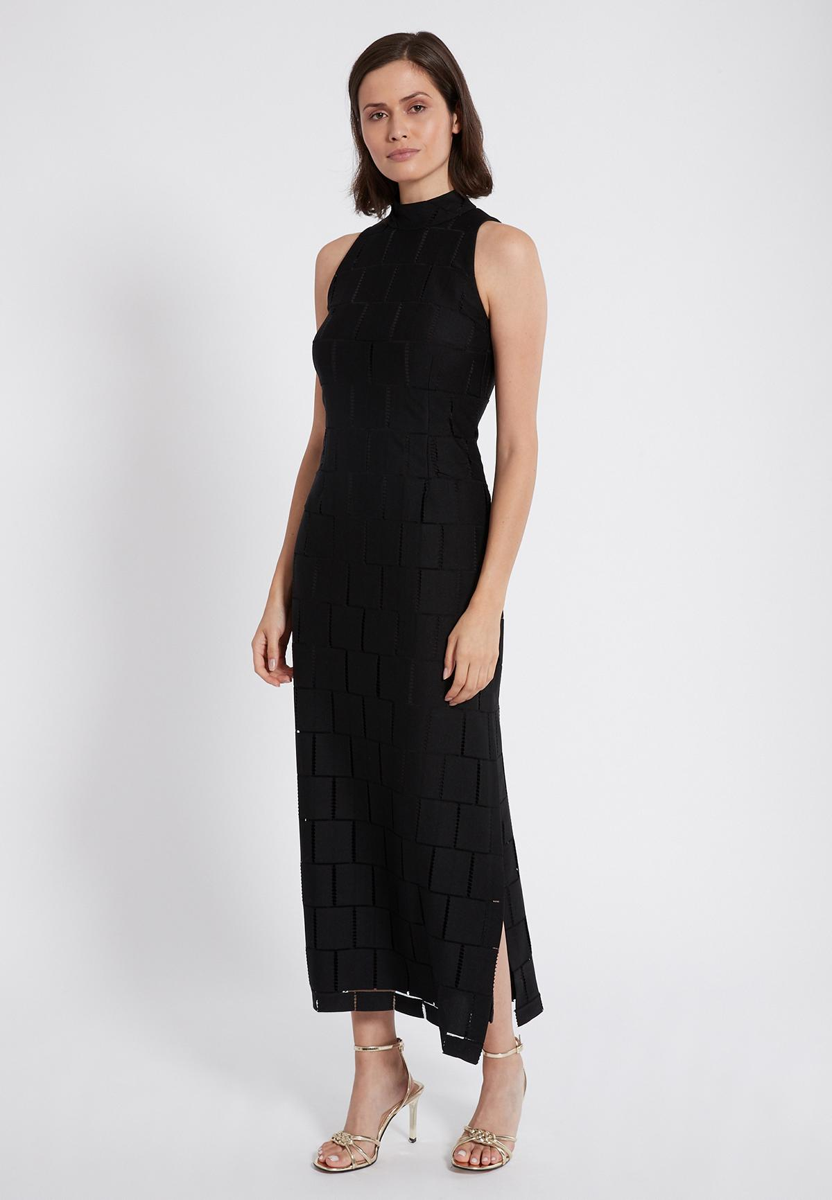 Rear view of Ana Alcazar Maxi Dress Samita Black