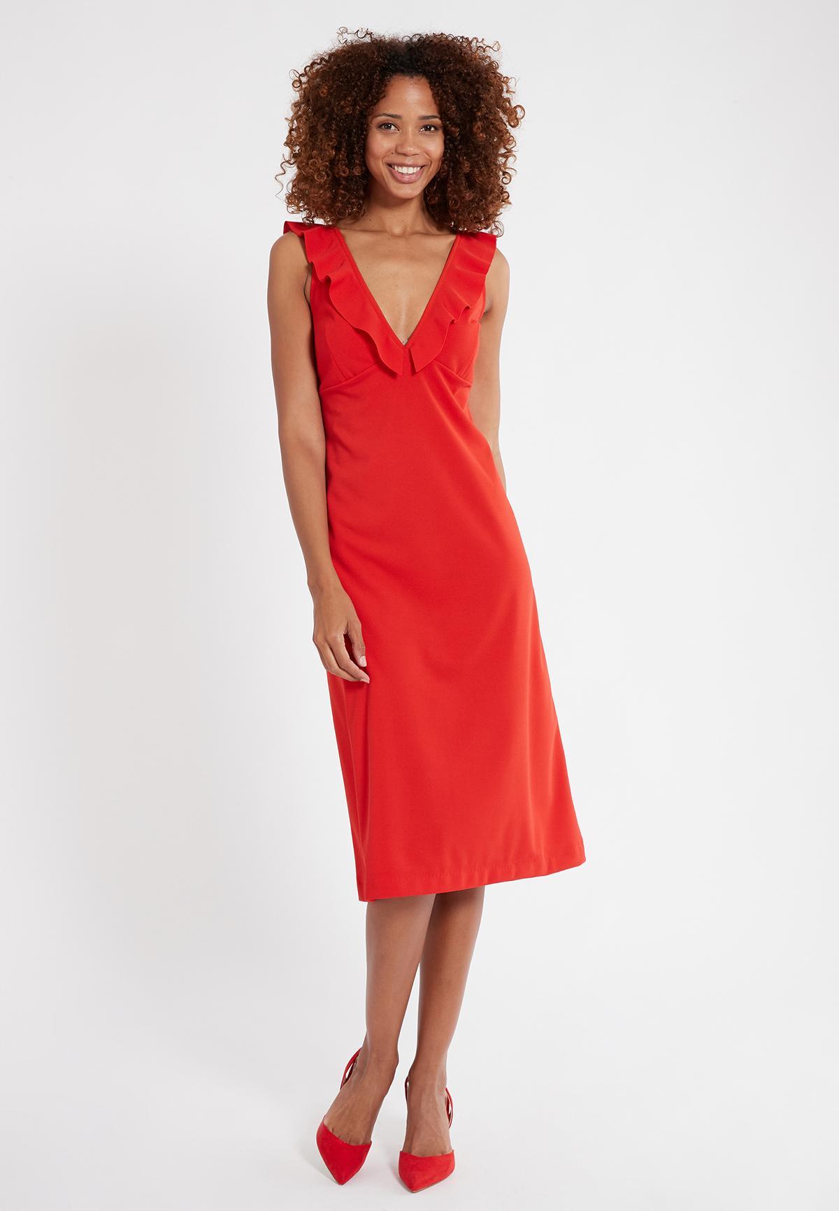 Rückansicht von Ana Alcazar Flamenco Kleid Sawona Red