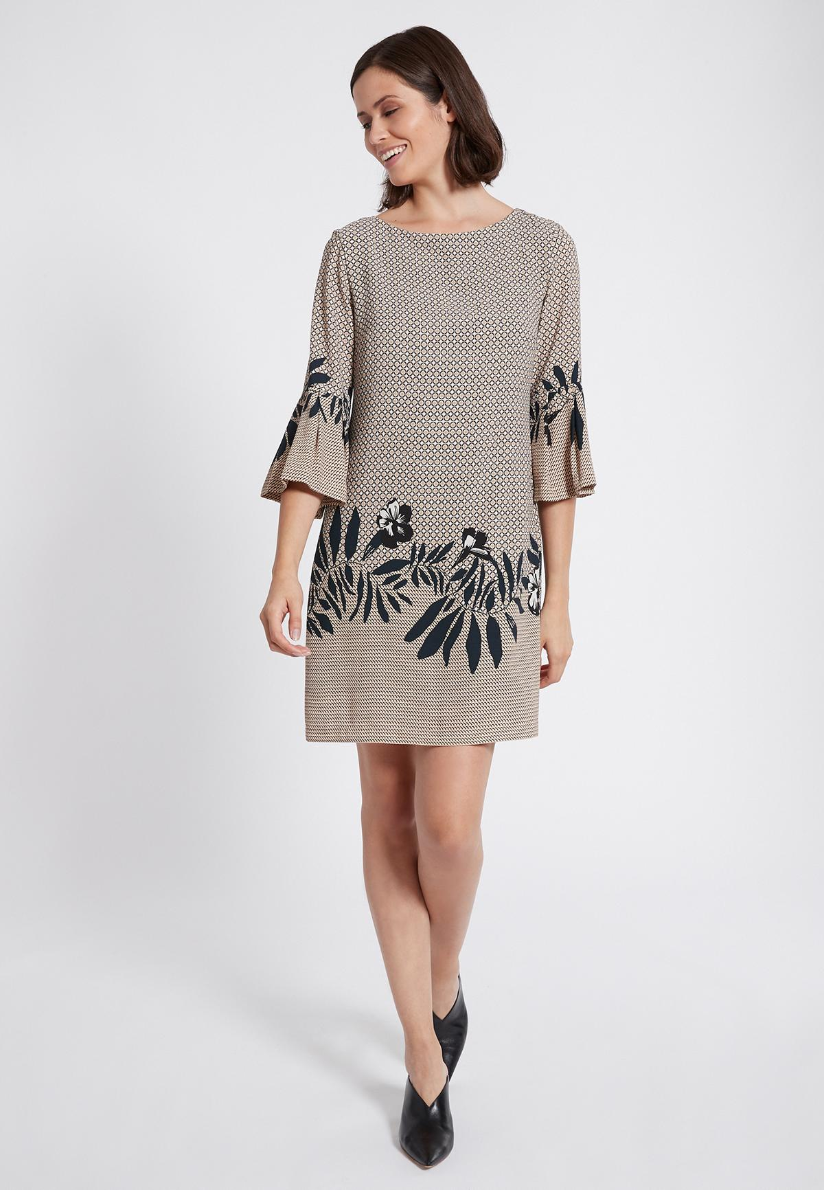 Rear view of Ana Alcazar Sleeve Dress Serone