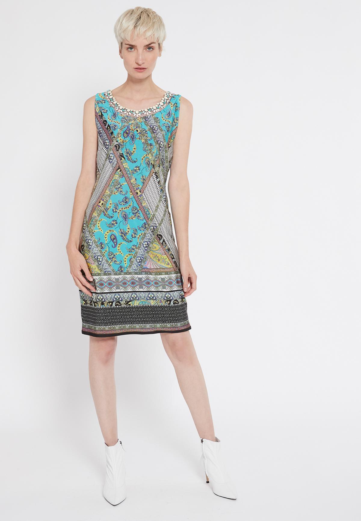 Rückansicht von Ana Alcazar Ärmelloses Kleid Setane