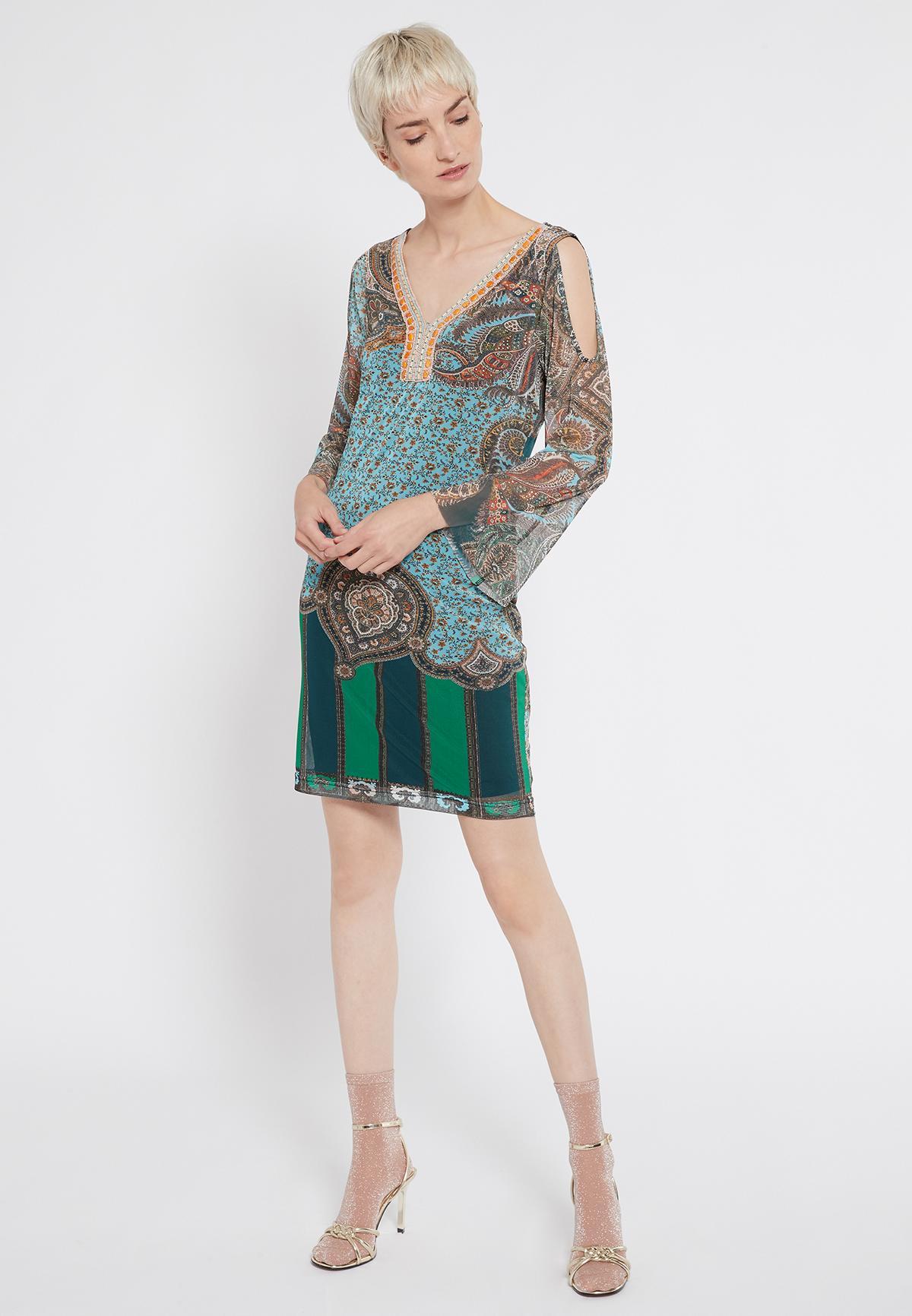 Rückansicht von Ana Alcazar Deko Kleid Shalma