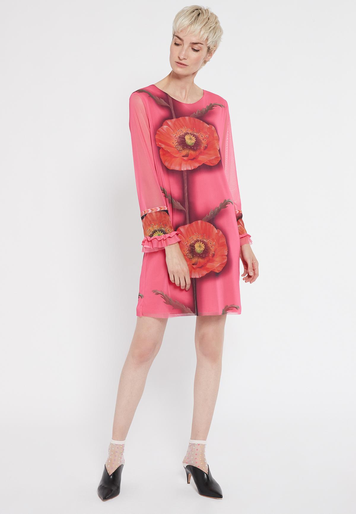 Rückansicht von Ana Alcazar Langarm Kleid Siany