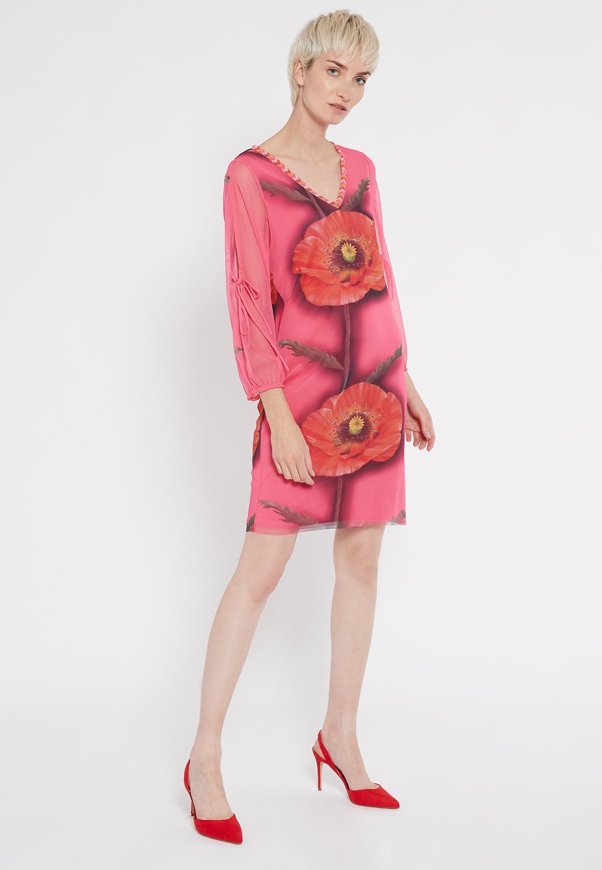 Rückansicht von Ana Alcazar Deko Kleid Siamote