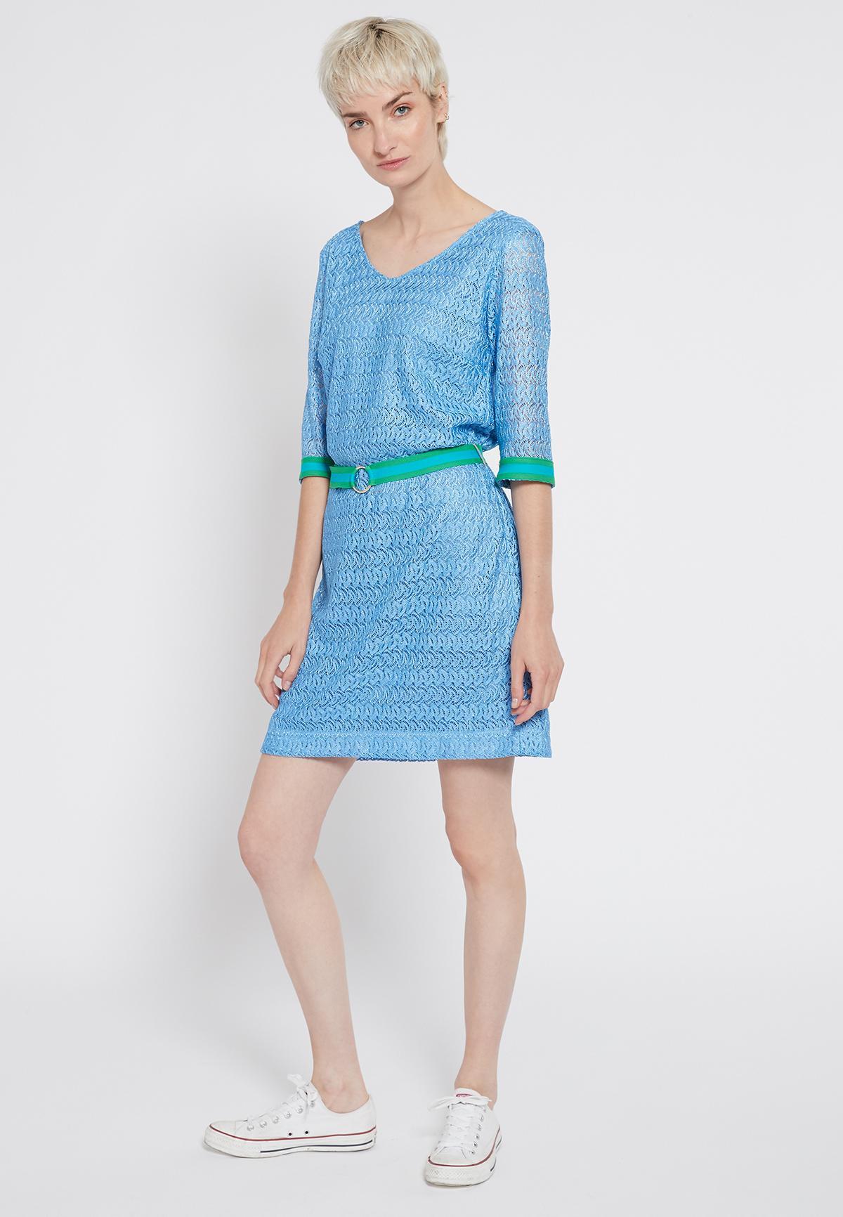 Rückansicht von Ana Alcazar Gürtel Kleid Sisofe