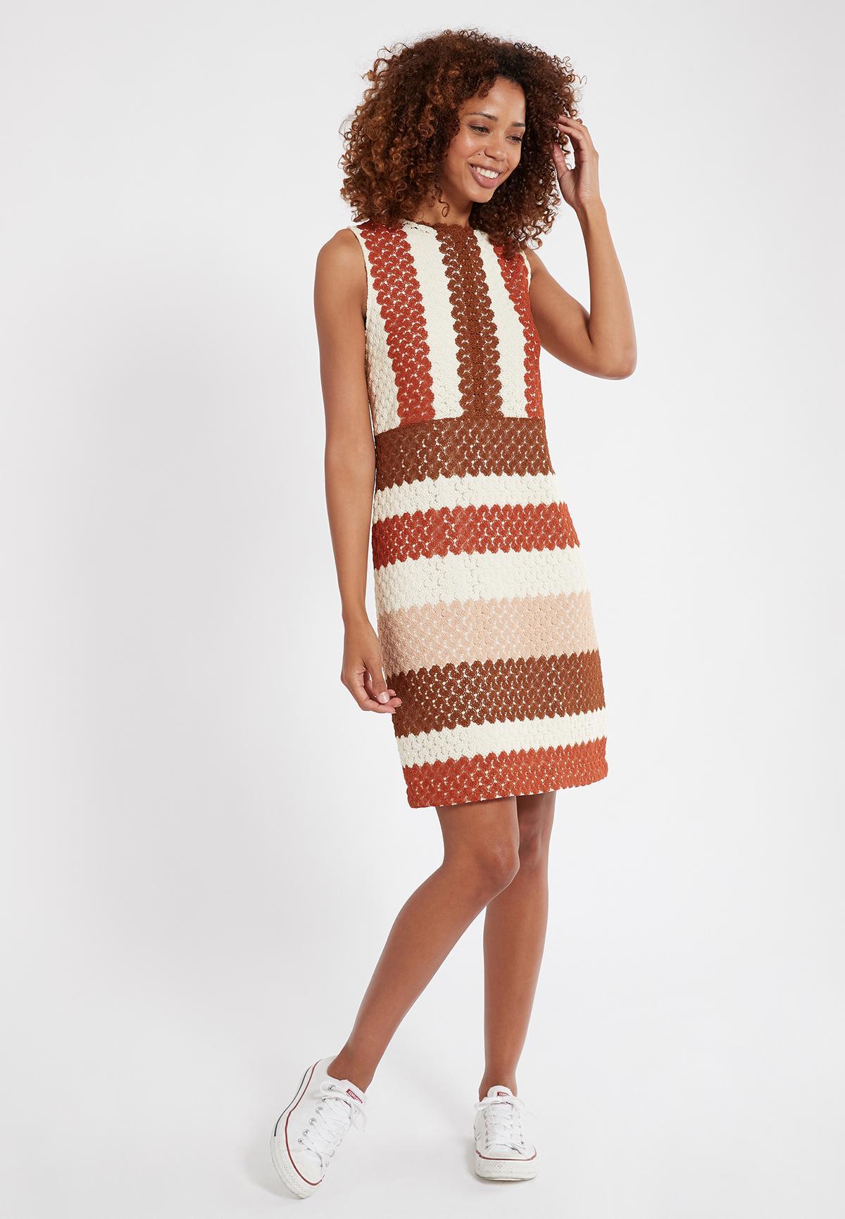 Rückansicht von Ana Alcazar Ärmelloses Kleid Sponty