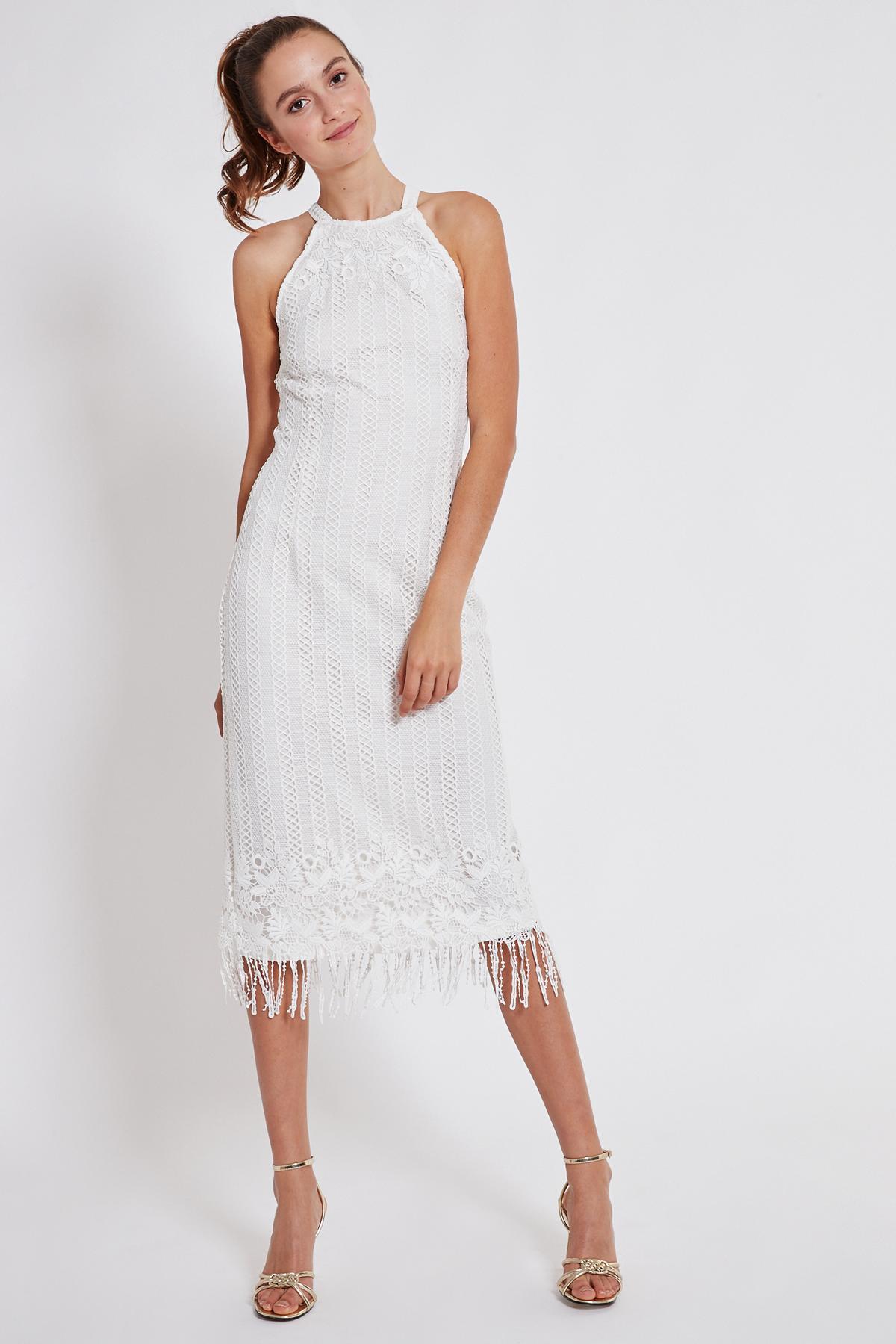 Rückansicht von Ana Alcazar Midi Kleid Tadila