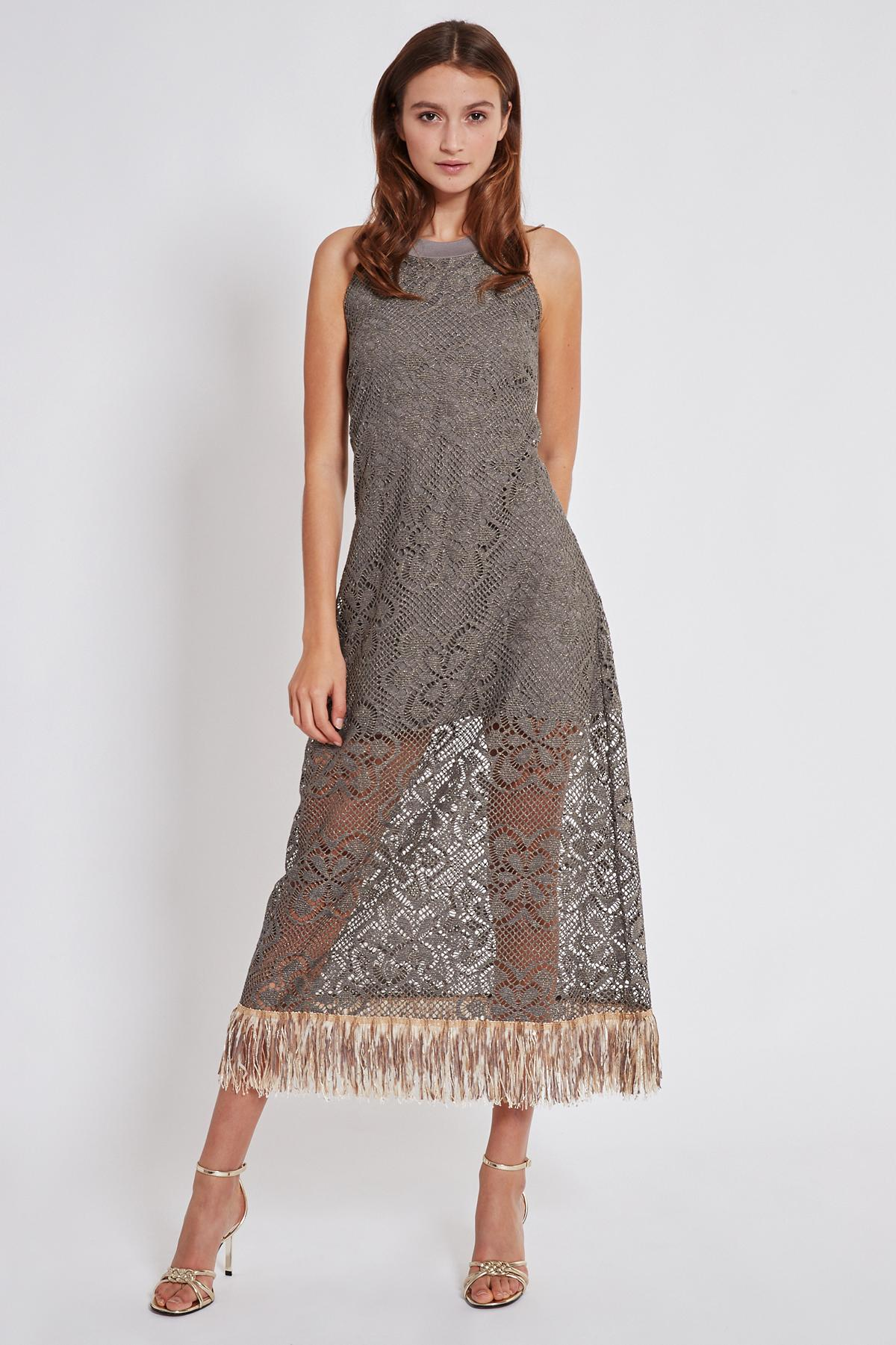 Rückansicht von Ana Alcazar Maxi Kleid Taikla