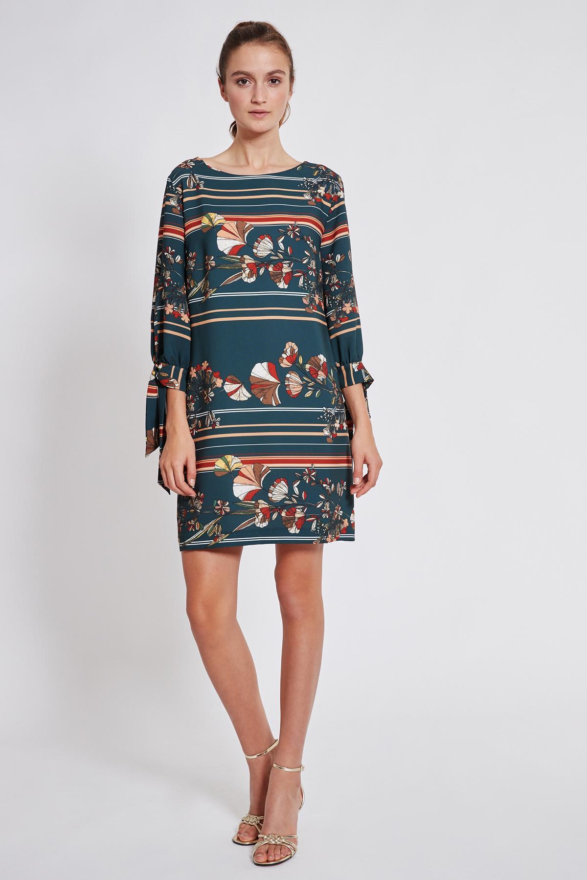 Rückansicht von Ana Alcazar Langarm Kleid Talore
