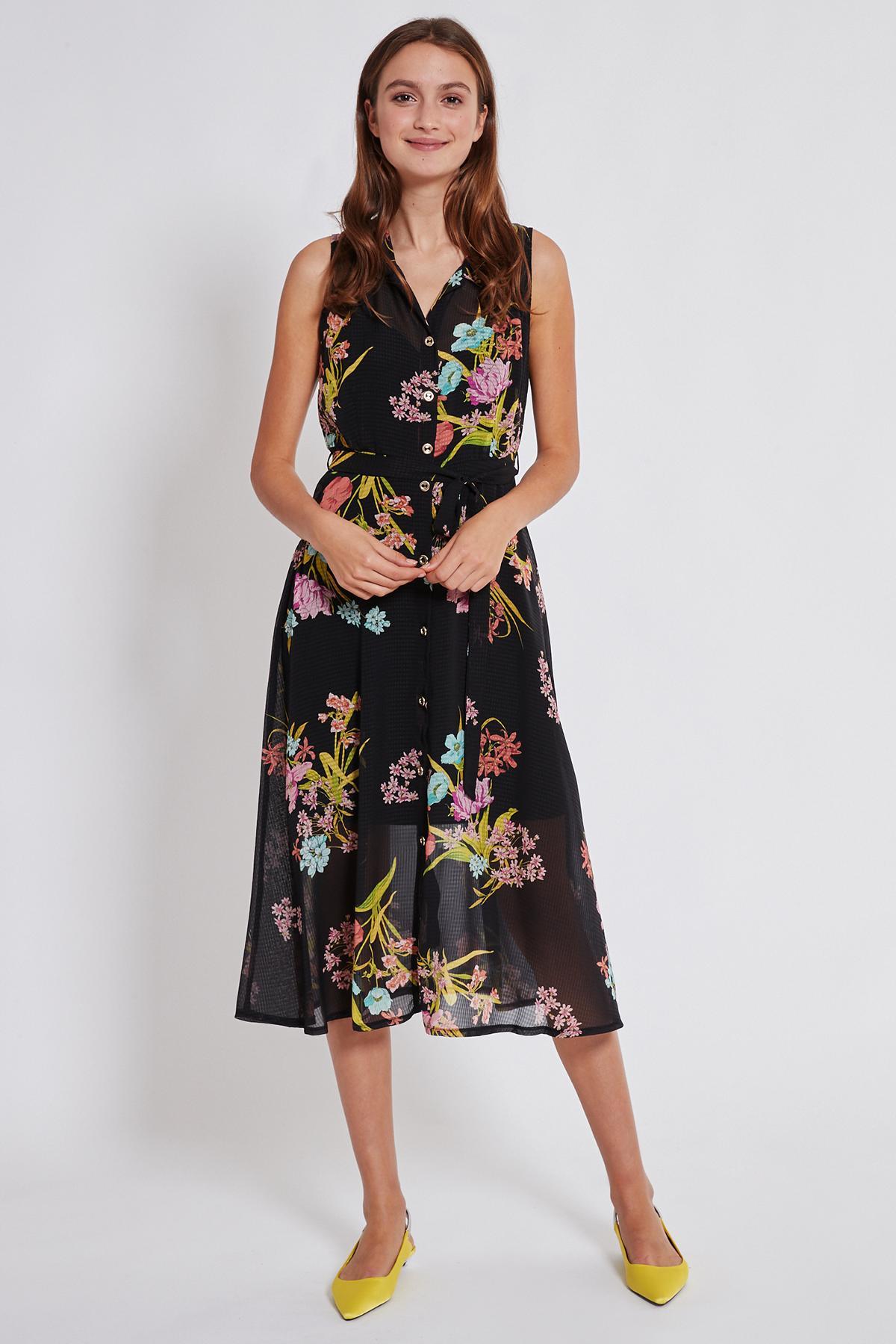 Rückansicht von Ana Alcazar Blusen Kleid Tamisy