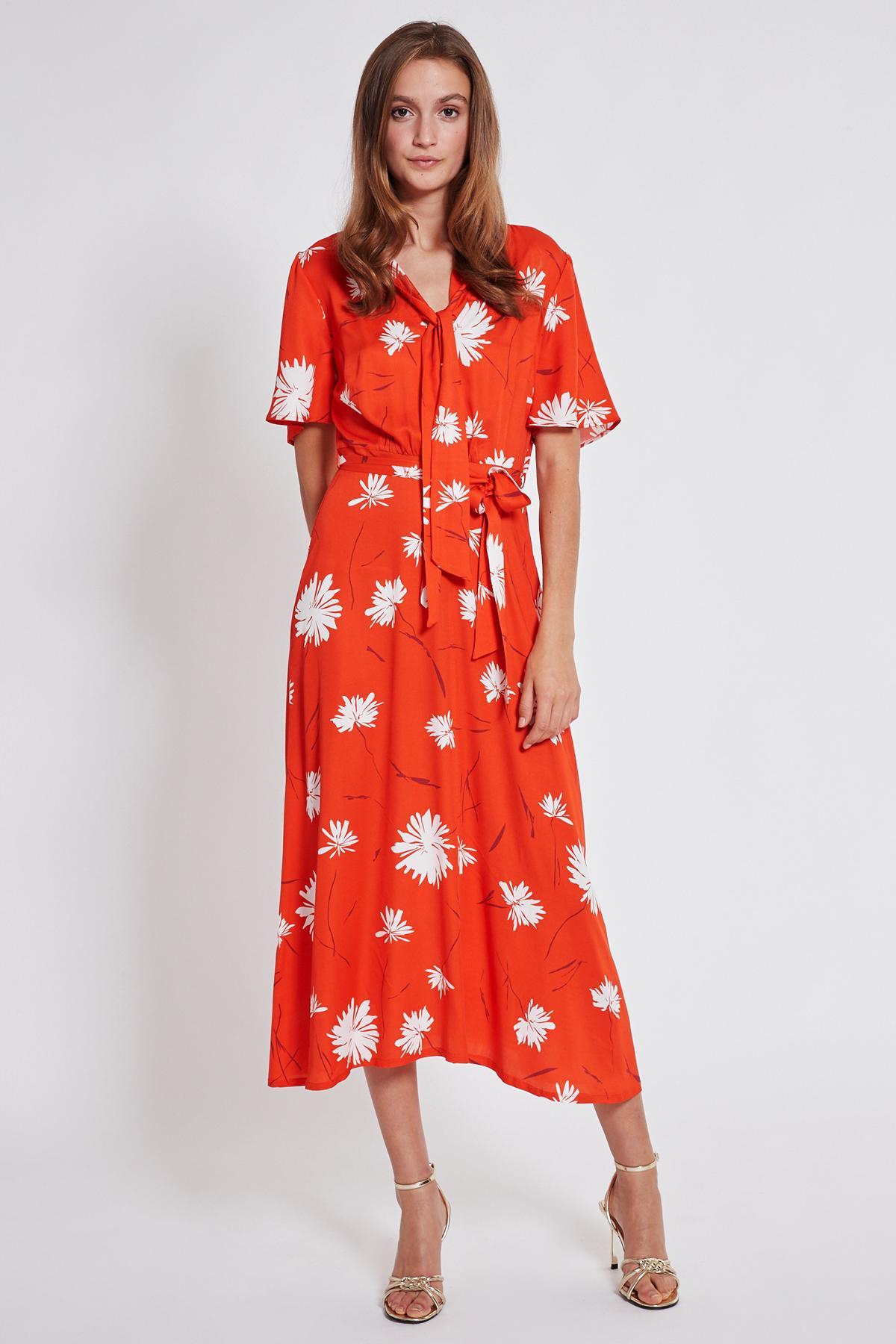 Rückansicht von Ana Alcazar Midi Kleid Taxyne