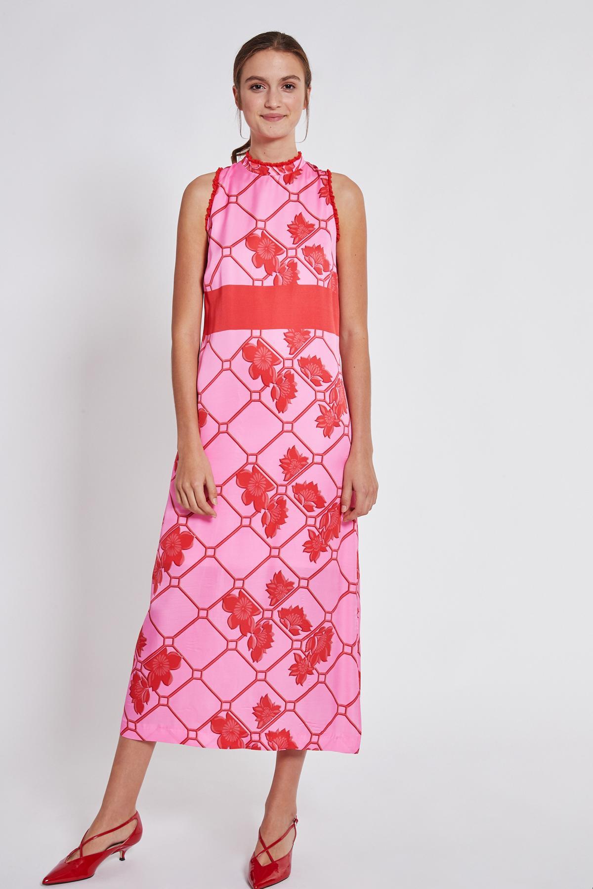 Rückansicht von Ana Alcazar Maxi Kleid Tebone