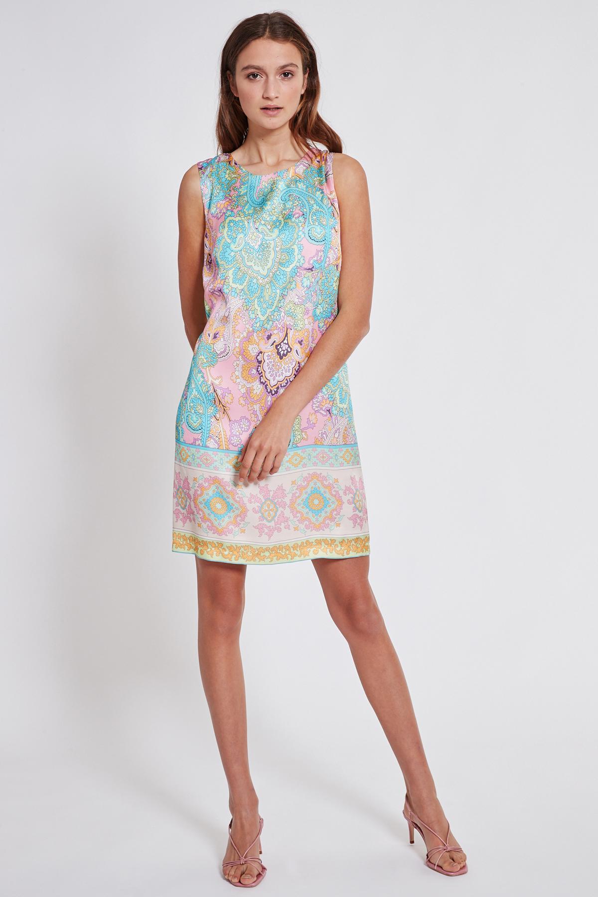 Rückansicht von Ana Alcazar Schleifen Kleid Tedora