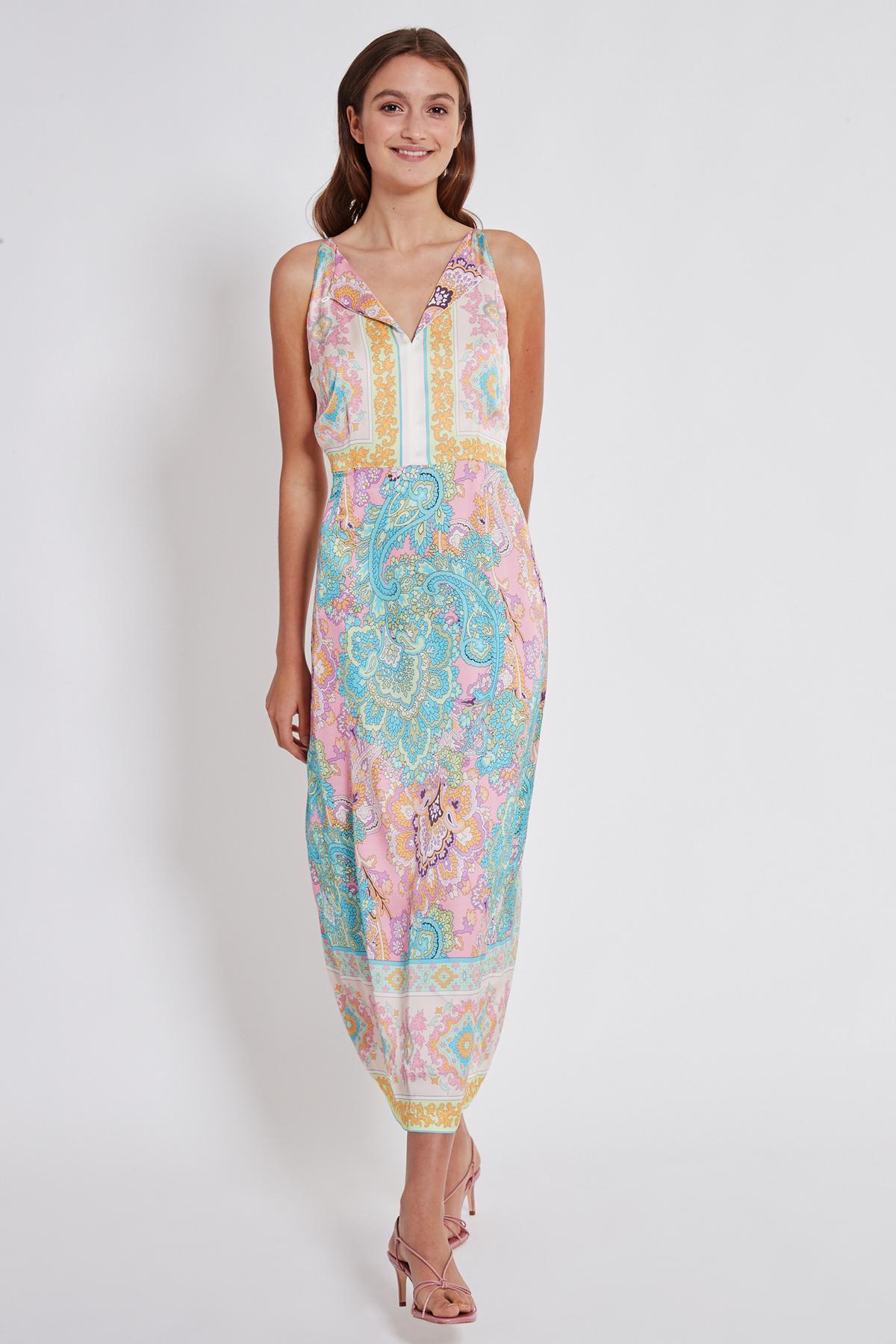 Rückansicht von Ana Alcazar Maxi Kleid Tedi