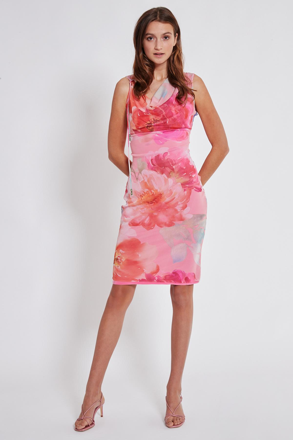 Rückansicht von Ana Alcazar Wasserfall Kleid Teginy