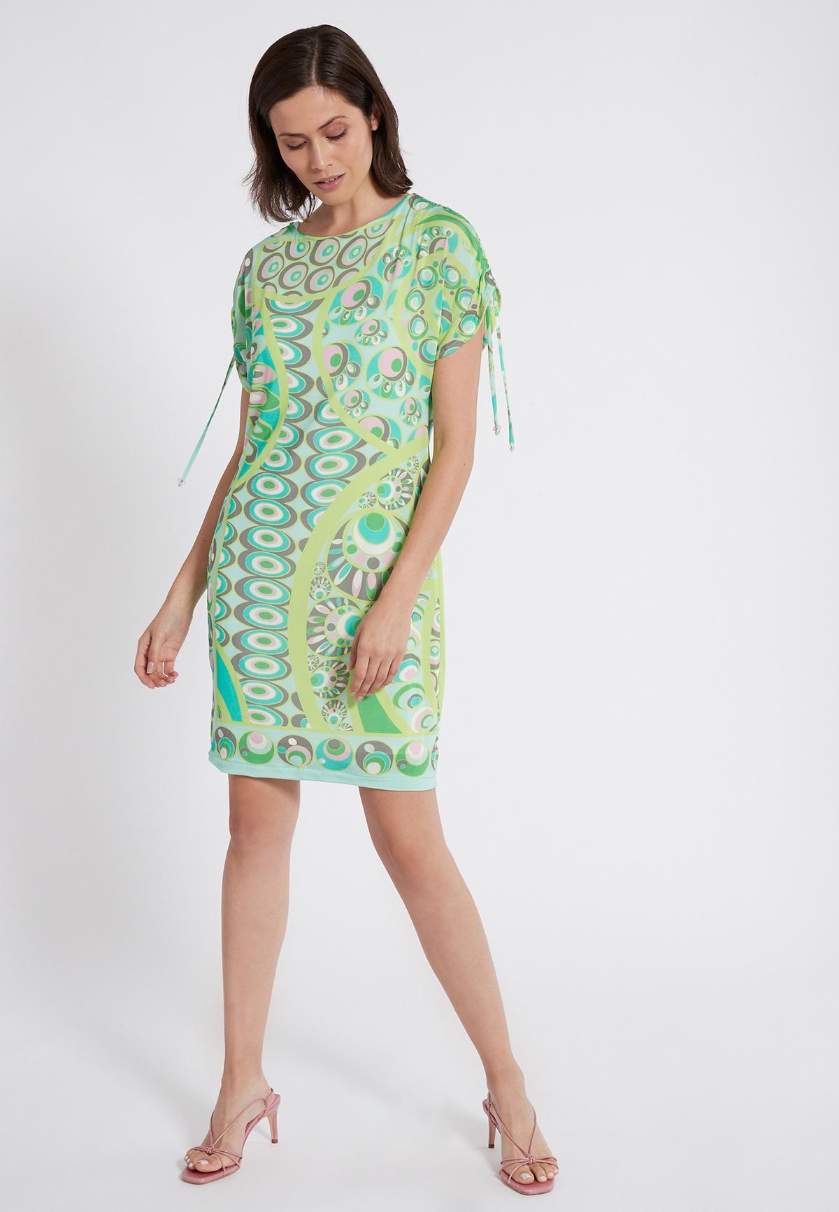 Rückansicht von Ana Alcazar Kurzarm Kleid Teona