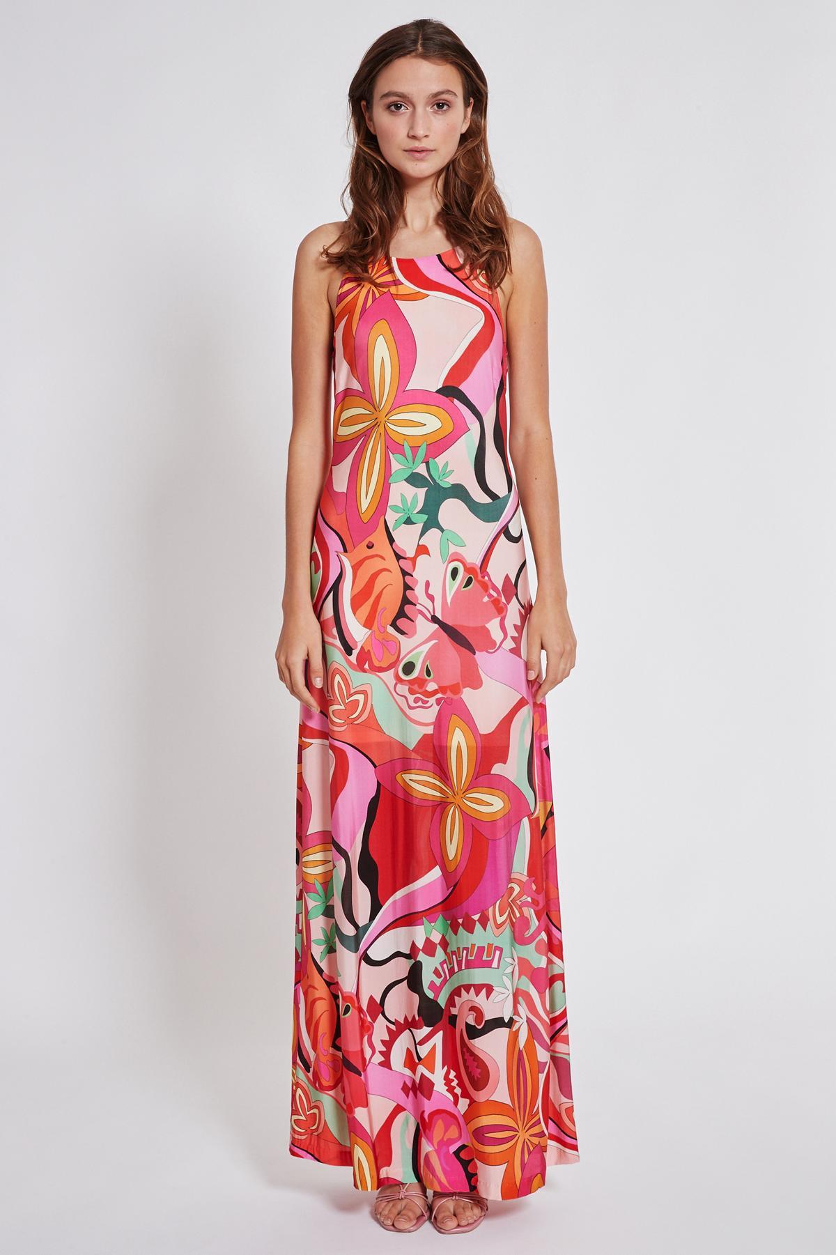 Rückansicht von Ana Alcazar Maxi Kleid Terala