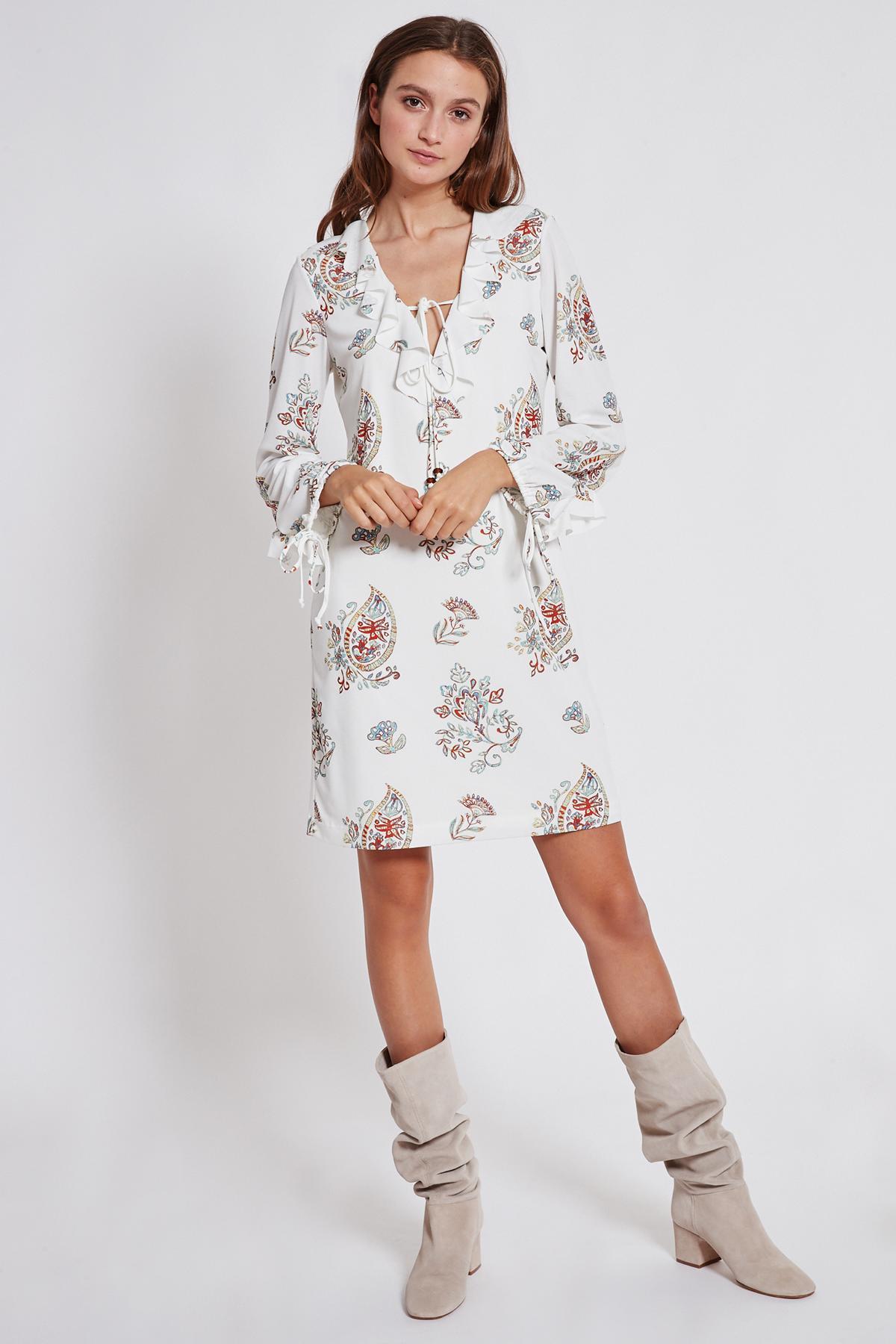 Rückansicht von Ana Alcazar Rüschen Kleid Tesnury
