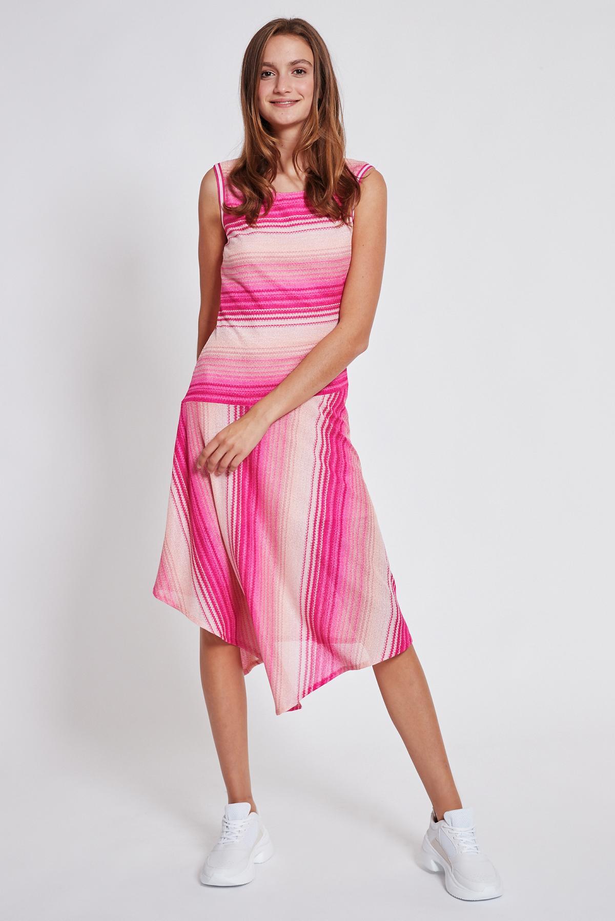 Rückansicht von Ana Alcazar Asymmetrisches Kleid Tosaly