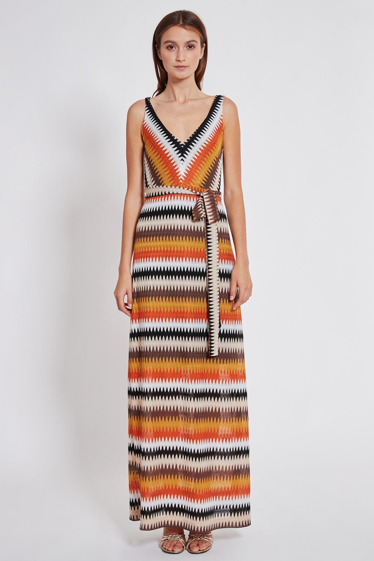 Rückansicht von Ana Alcazar Maxi Kleid Turyse