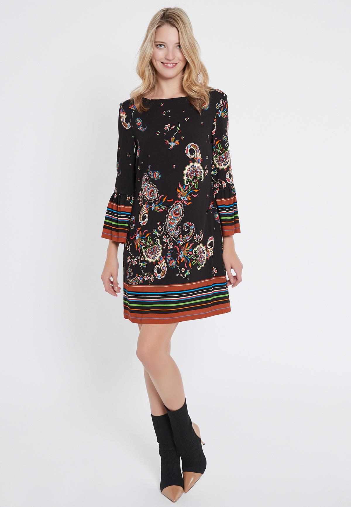 Rückansicht von Ana Alcazar Print Kleid Vadane